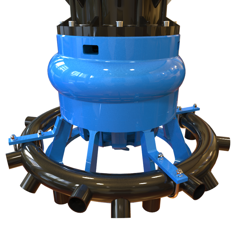 Keystone Water Jet Sparger Spray Ring for Slurry Sump Pump Applications
